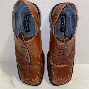Robert Wayne Square Toe Leather Lace Up Oxfords 12